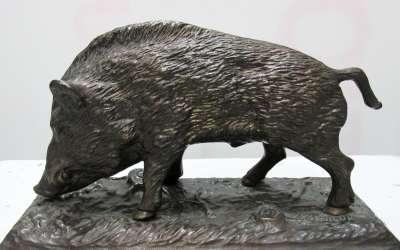 Bronze sanglier debout