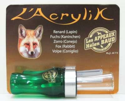 Appeau acrylik renard (lapin)