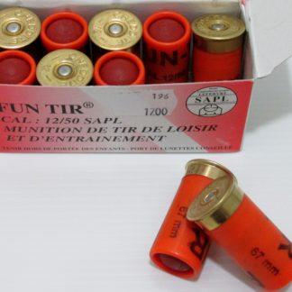Munitions Fusil 12/50 Balles caoutchouc