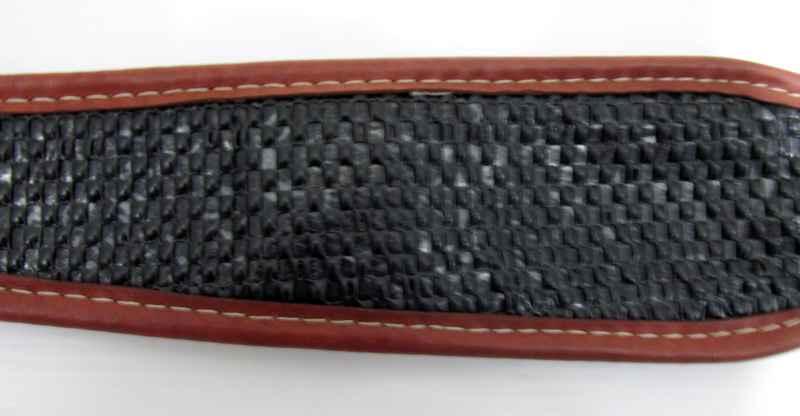 Bretelle RISERVA carabine marron avec décor