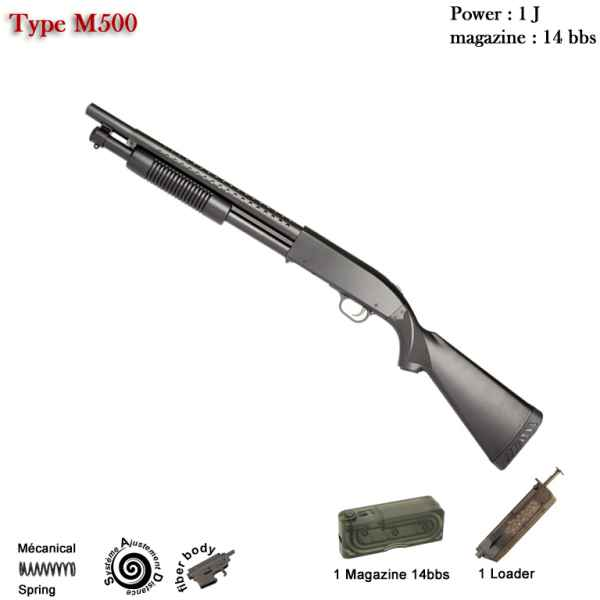 Fusil à pompe M500 long