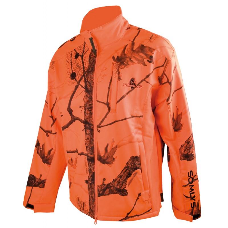 Veste polaire Somlys 402 softshell  camo orange
