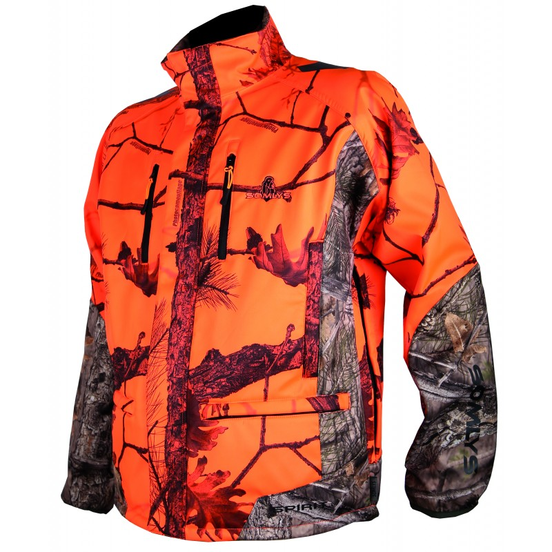 Veste 441N Softshell camo orange