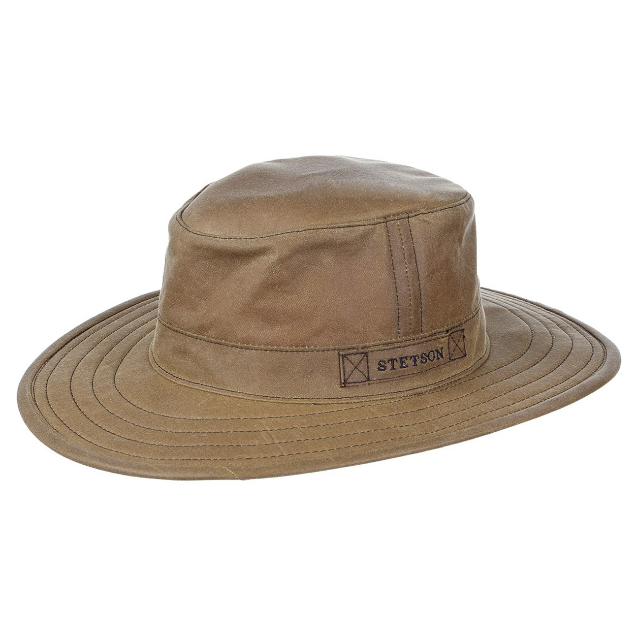 Chapeau STETSON Pompano Waxed Cotton marron clair